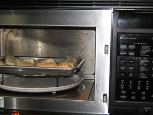 "Bake on 2"" rack in 425 degree oven'"